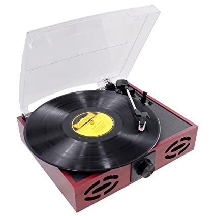 Upgraded Version Pyle Vintage Record Player, Classic Vinyl Player, Retro  Turntable, MP3 Vinyl, Music Editing Software Included, RCA Output, USB  Cable,