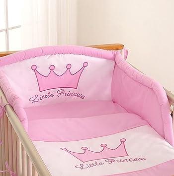 dcb3755fca4 Tour de lit bébé - 120 60 ou 140 70 – Princesse rose  Amazon.fr ...