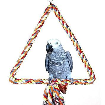 Catkoo Accesorios para pájaros, Barra de Cuerda de pie para Loro ...