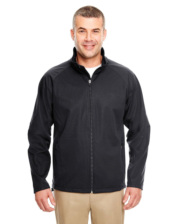 BLACK UltraClub Mens 2-Tone Soft Shell Jacket