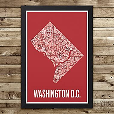 Washington DC Neighborhood Map Print