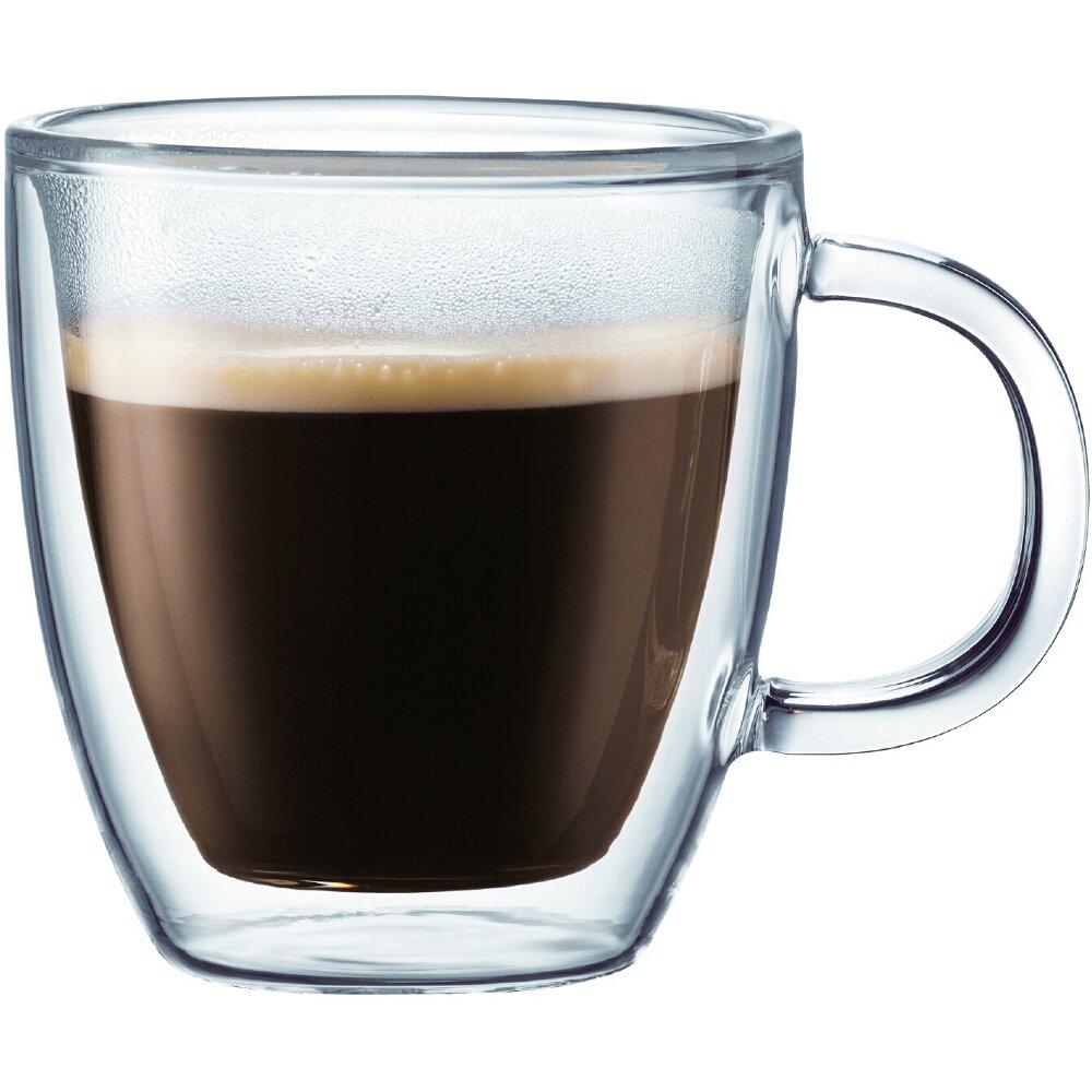 Bodum Bistro Double-Walled Transparent 10 Ounce Coffee Mug, Set of 6