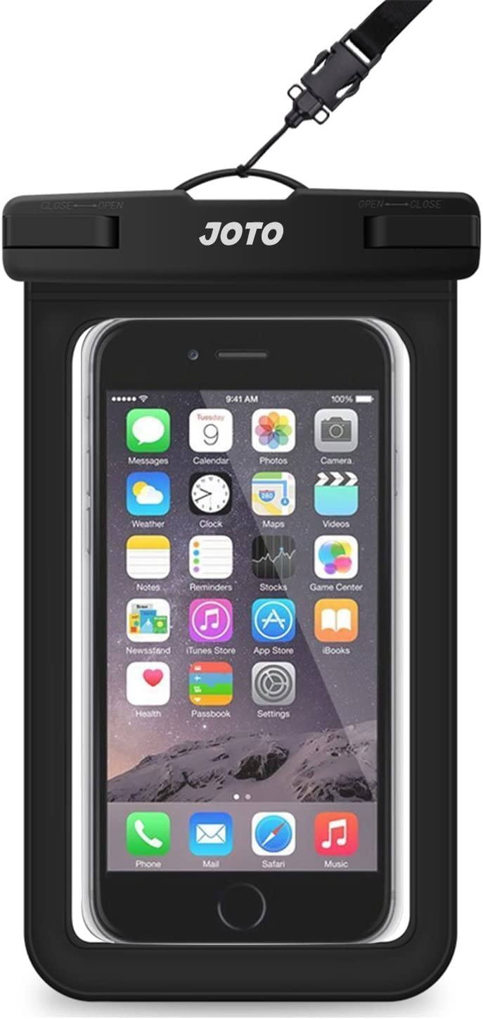 """JOTO Universal Waterproof Pouch Phone Dry Bag Underwater Case for iPhone 11 Pro Max XS Max XR X 8 7 6S Plus Galaxy Pixel up to 6.8"""", Waterproof Case for Pool Beach Swimming Kayak Travel -Black"""
