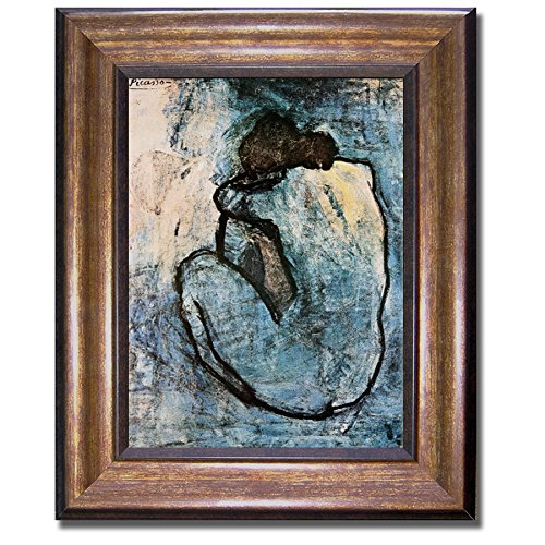 Blue Nude by Pablo Picasso Premium Bronze-Framed Canvas Art (Picasso Mixed Media)