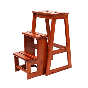 Super Amazon Com Solid Wood Step Stool Household Multi Functional Ibusinesslaw Wood Chair Design Ideas Ibusinesslaworg