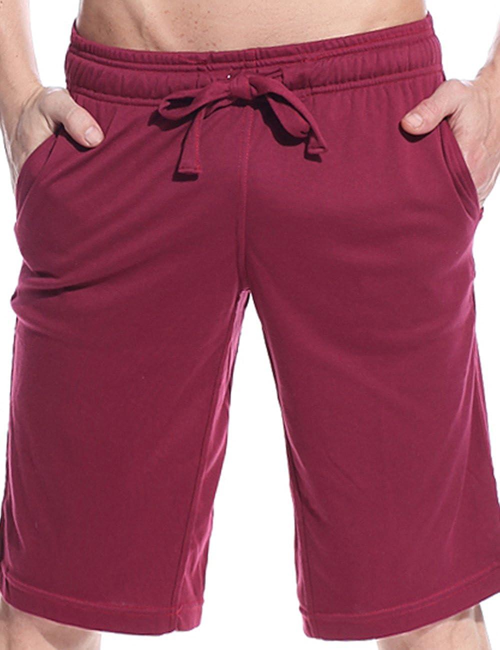 Godsen Men's Cotton Pajama Sleep Shorts with 2 Pockets 8211604-RG