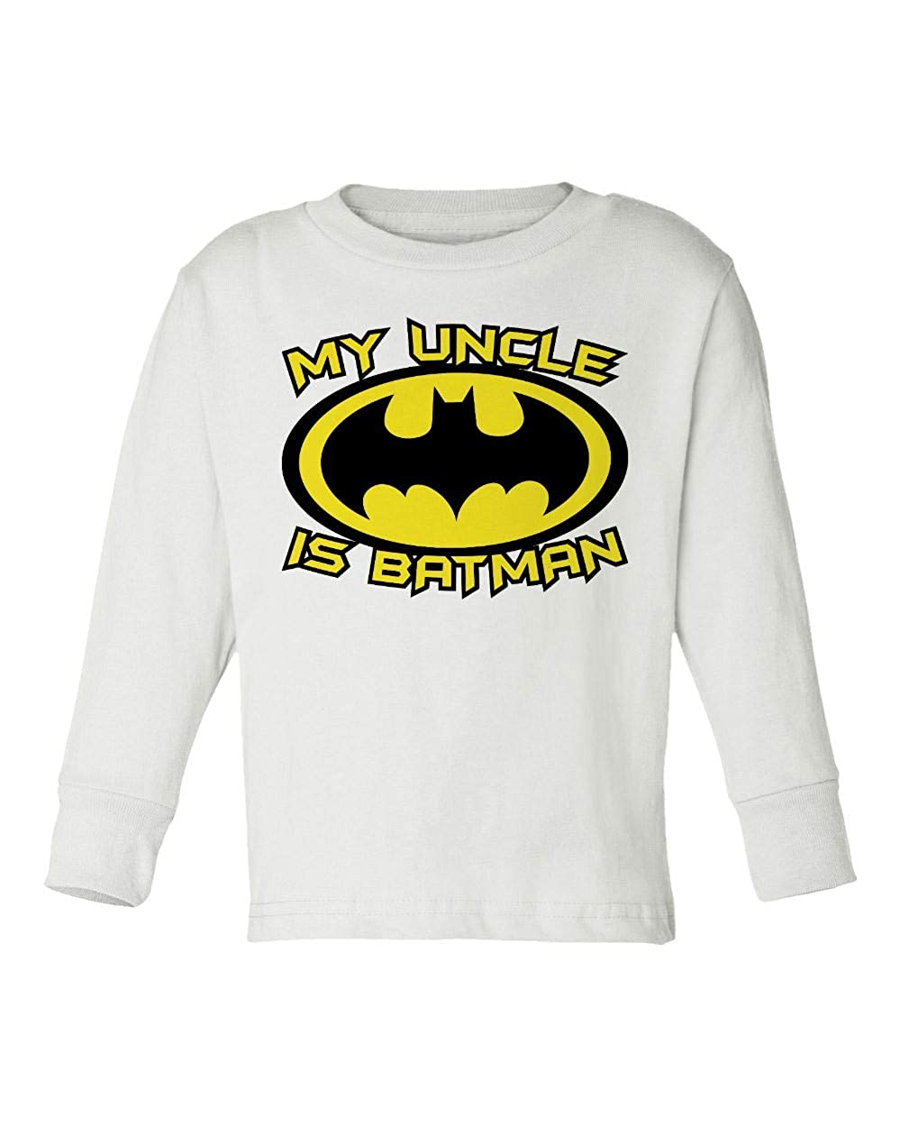 Societee My Uncle is A Bat Cute Funny Superhero Girls Boys Toddler Long Sleeve T-Shirt