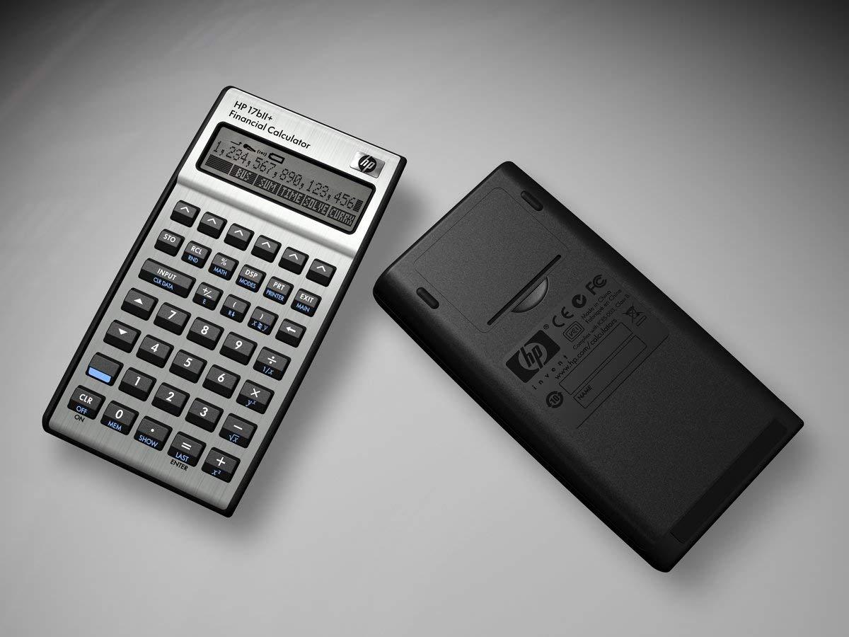 HP 17BII+ Financial Calculator, Silver (Renewed)