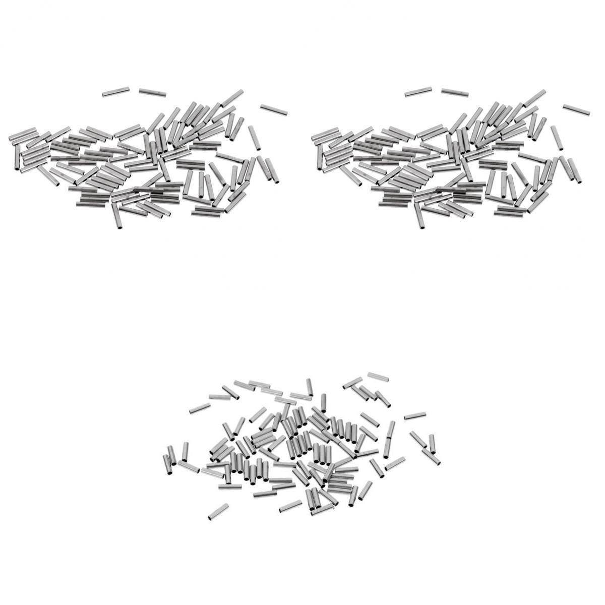 JENZI Quetschhülsen Klemmhülsen zur Stahlvorfachanfertigung 0,6 mm ca 100 Stk.