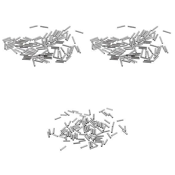 300x Einzel Klemmhülsen korrosionsbeständig Angelausrüstung Verbindung