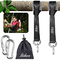 Tree Swing Hanging Straps Kit - Holds 2000 lbs, 5ft Extra Long Straps Strap with 2 Tree Protectors & 2 Safer Lock Snap…