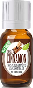 Cinnamon Cassia Essential Oil - 100% Pure Therapeutic Grade Cinnamon Cassia Oil - 10ml