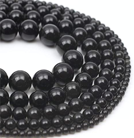 Beautiful 8mm black agate gemstone round loose beads 15/'/'