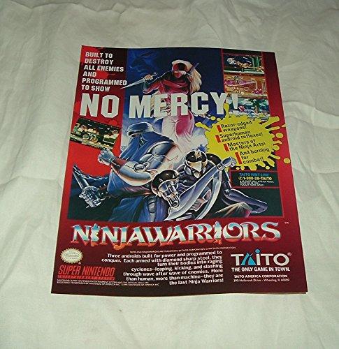 Ninja guerreros SNES Video Game impresión anuncio Ad Art ...