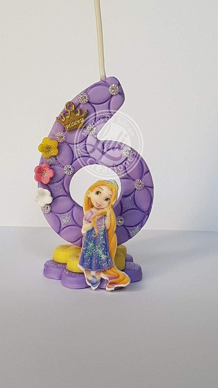 Vela decorada porcelana fría Inspirada en Princesa Rapunzel ...