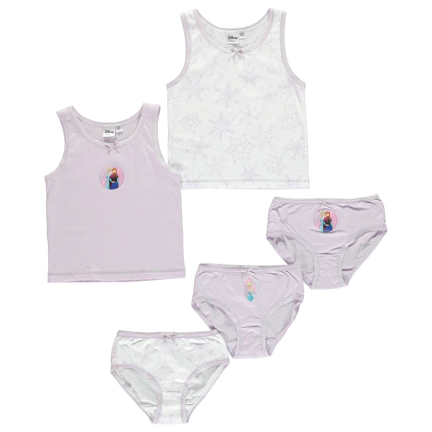 Character  5 Pack Kids Boys Girls Print Vest and Brief Set