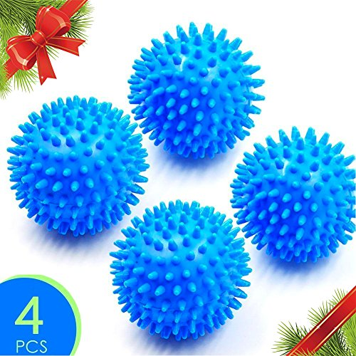 Price comparison product image Christmas Gift Max Dryer Ball – Most Innovative Reusable Dryer Balls to Dry Your Laundry Faster / Premium Hypoallergenic PVC Material / Set of 4 / Blue / 1069.2