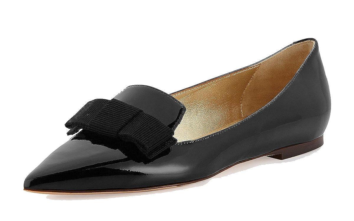 DYF Frauen nackt Schuhe Farbe Größe scharfe Mund flache Unterseite flach Mund scharfe Schwarz 46 fe74e6