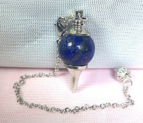 1 Pcs 1.6 Inchs Semi-Precious Stone Crystal Quartz Bead Divination Pendulum Pendant Amulet (Lapis ()