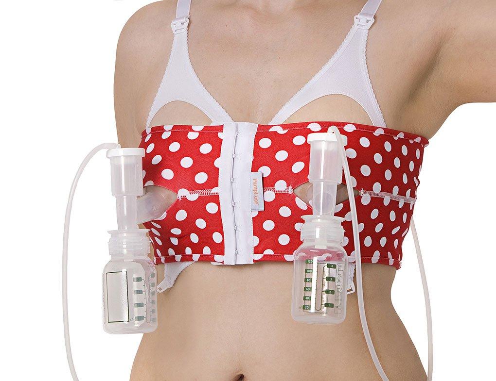 L T-bird Red PumpEase hands-free pumping bra