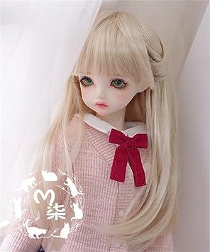 Bjd Doll Wig 1//4 7-8 SD MSD AOD DZ LUTS Dollfie white Toy Head Hair