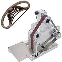 Lijadora de correa de bricolaje con 10 correas de arena, control de velocidad ajustable, multifuncional, lijadora de bordes