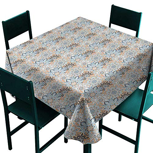 Warm Family Mandala Fabric Dust-Proof Table Cover Vintage Ottoman Elements in Oriental Style Paisley Inspired Flourish for Kitchen Dinning Tabletop Decoration D67