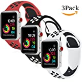 Amazon Price History for:Band4u Apple Watch Band 42mm 38mm,Soft Silicone Strap Replacement Wristbands for Apple Watch Sport Series 3 Series 2 Series 1 Nike+ Sports and Edition (42mm Black/Grey)