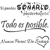 3pcs Pegatinas Citas Inspiradoras Pared Español Vinilos Frases