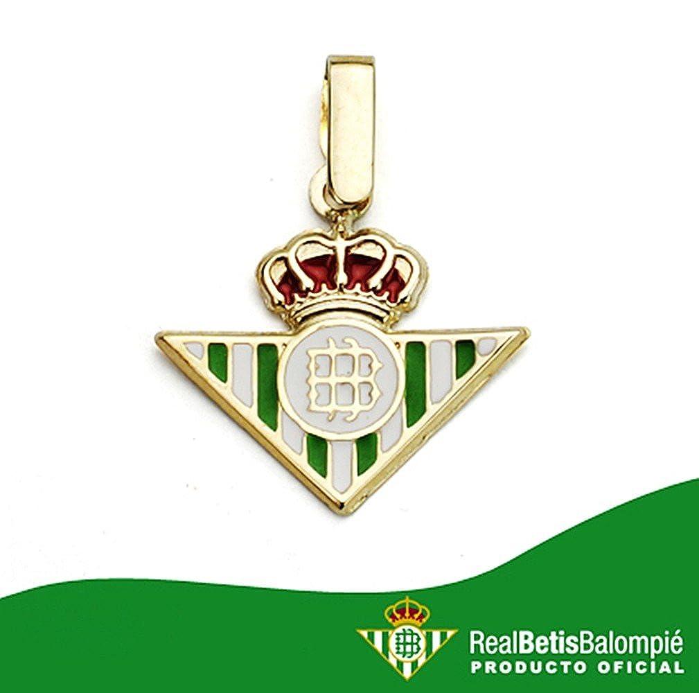 Colgante escudo Real Betis oro de ley 18k 14mm. esmaltado [AA7458 ...