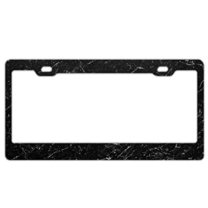 Amazon.com: Abstract Marble License Plate Frame Cool Waterproof ...