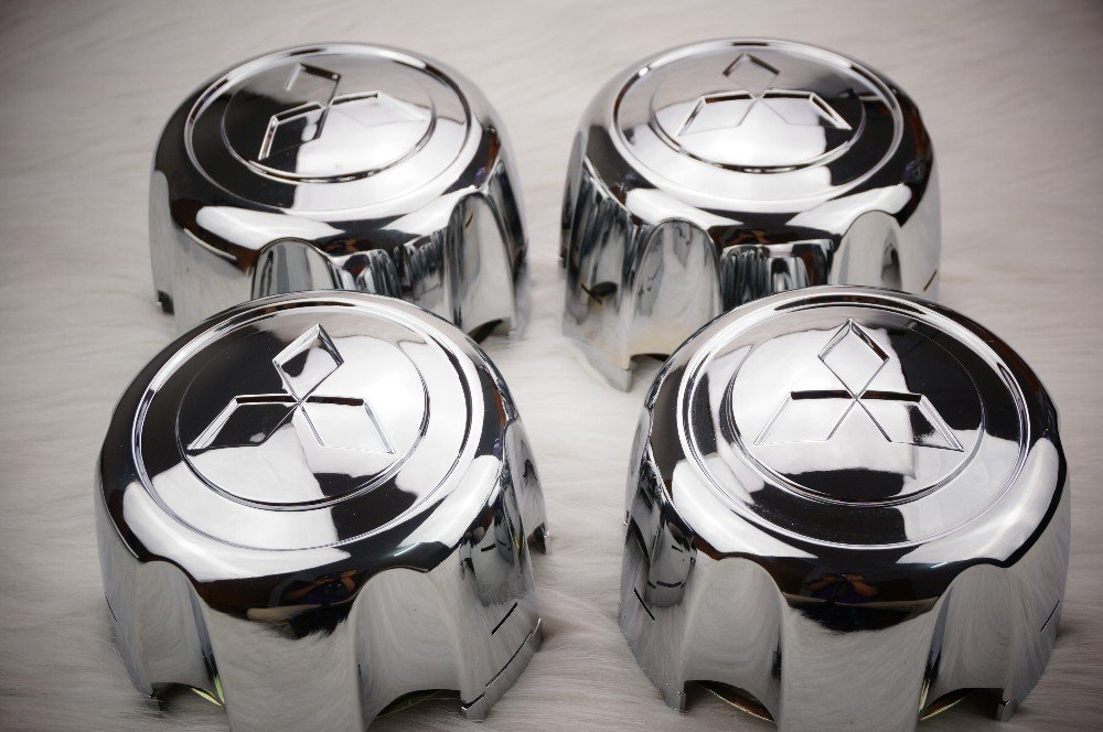 Gosweet 4X Brand NEW Four Pieces Set of Chrome Wheel Center Hub Caps for 1992-2002 Mitsubishi Montero Sport MB816581 With Retention Clip for Montero Pajero Sport US Fast Shipment Autocaps