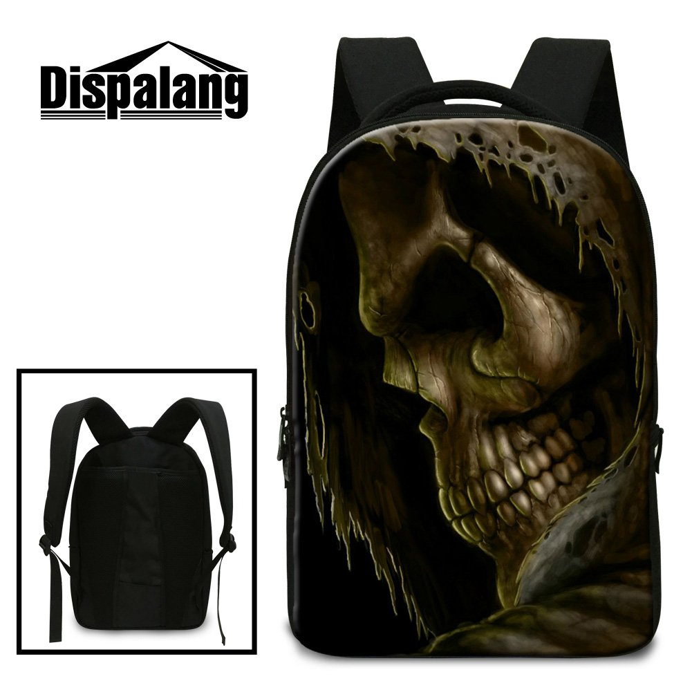 21999d4dd7f1 Generic Cool Skull Laptop Backpack for Students Fashion Day Pack ...