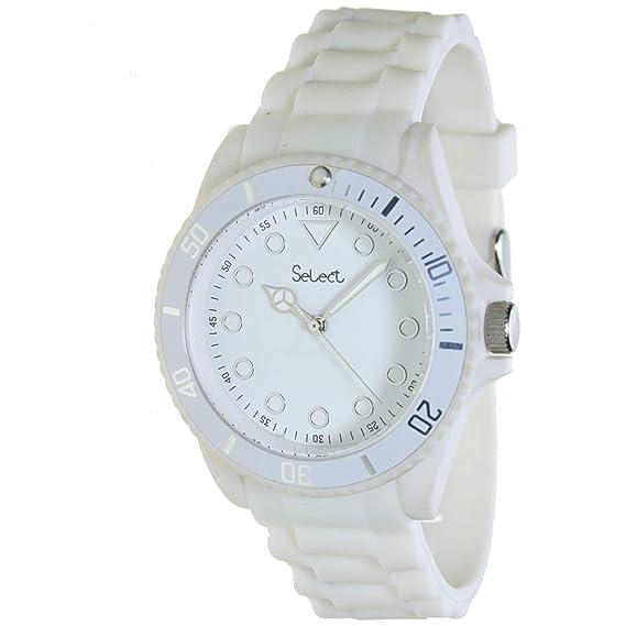 Select Lw-20-01 Reloj Analogico para Mujer Caja De Resina Esfera Color Blanco: Amazon.es: Relojes