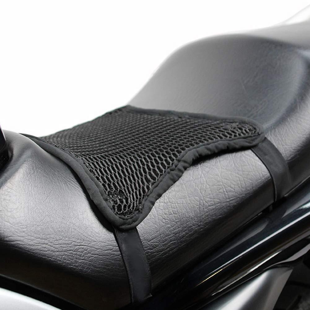 Motorrad Cool Sitzbezug Hitzeisolierung Sonnenschutz Kissen Anti-Rutsch 3D Atmungsaktiv Mesh Sitz Sonnenpolster Motorrad Sitzschutz Matte