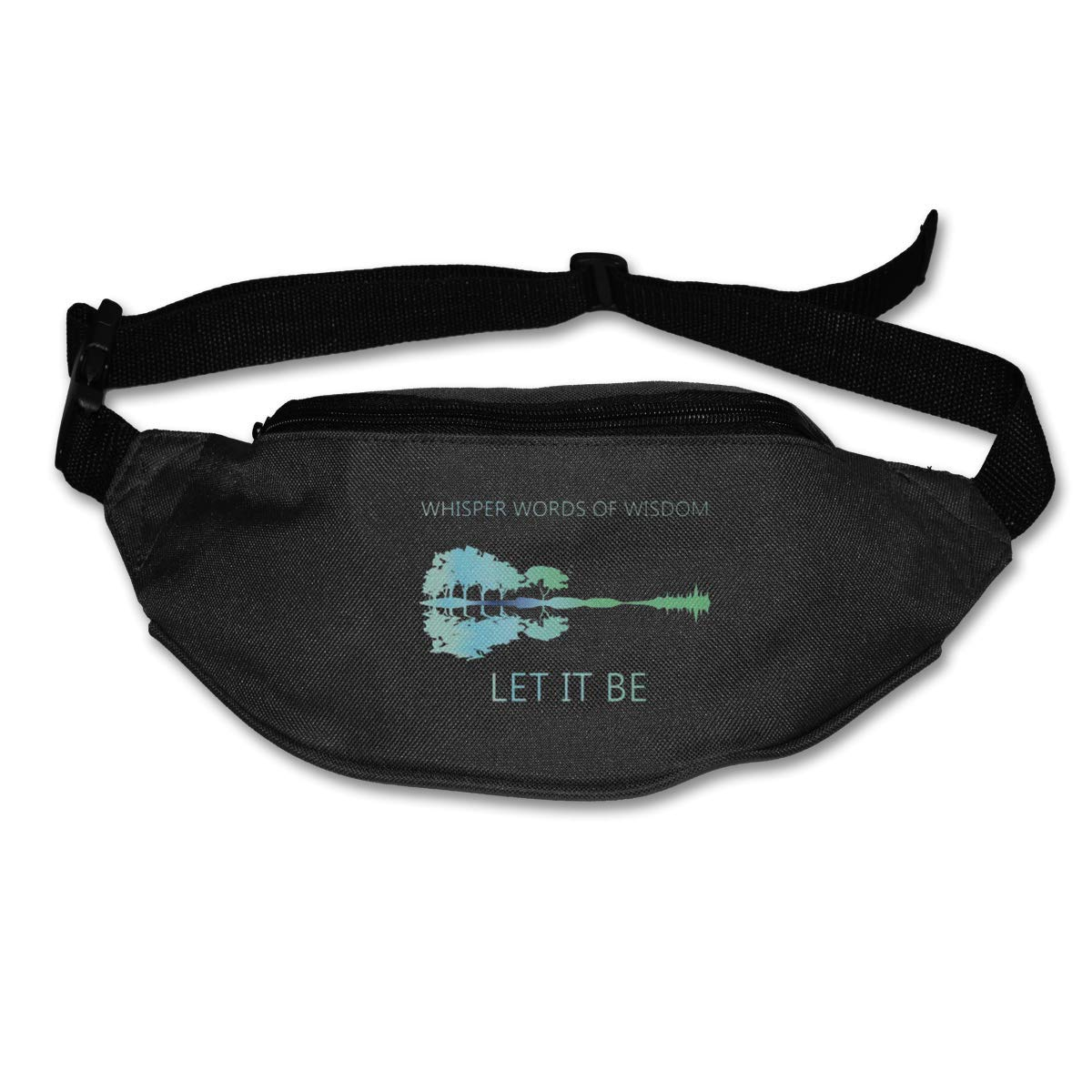 Whisper Words of Wisdom Let It Be Guitar Lake Shadow Pack Waist Bag Travel