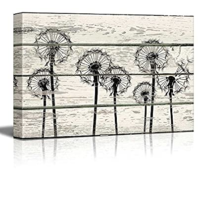 Charming Expert Craftsmanship, Created By a Professional Artist, Dandelions in Field Artwork Rustic