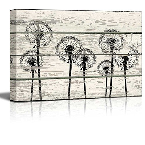 Dandelions in Field Artwork Rustic