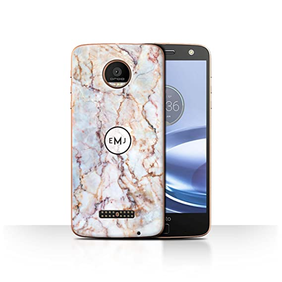 sneakers for cheap d3503 e2619 Amazon.com: Personalized Marble Case for Motorola Moto Z Force/Droid ...