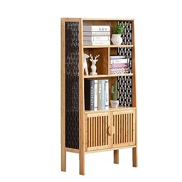 Curio Cabinets Bookshelf Shelf Solid Wood Cabinet Storage Bookcase Living Room Display