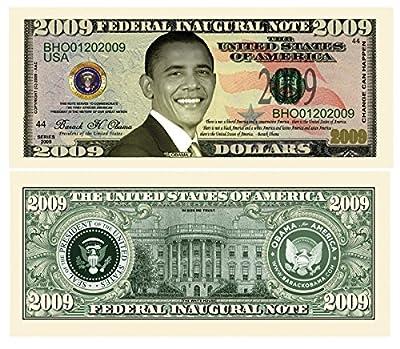 Barack Obama 44th President Collectors 2009 FEDERAL INAUGURAL NOTE 2009 Dollar Bill