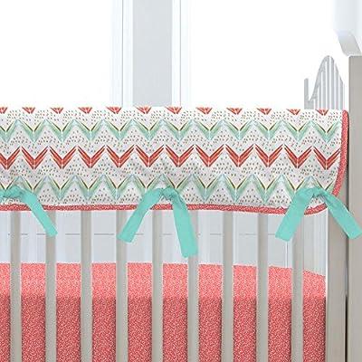 Carousel Designs Coral and Teal Arrow Crib Rail Cover