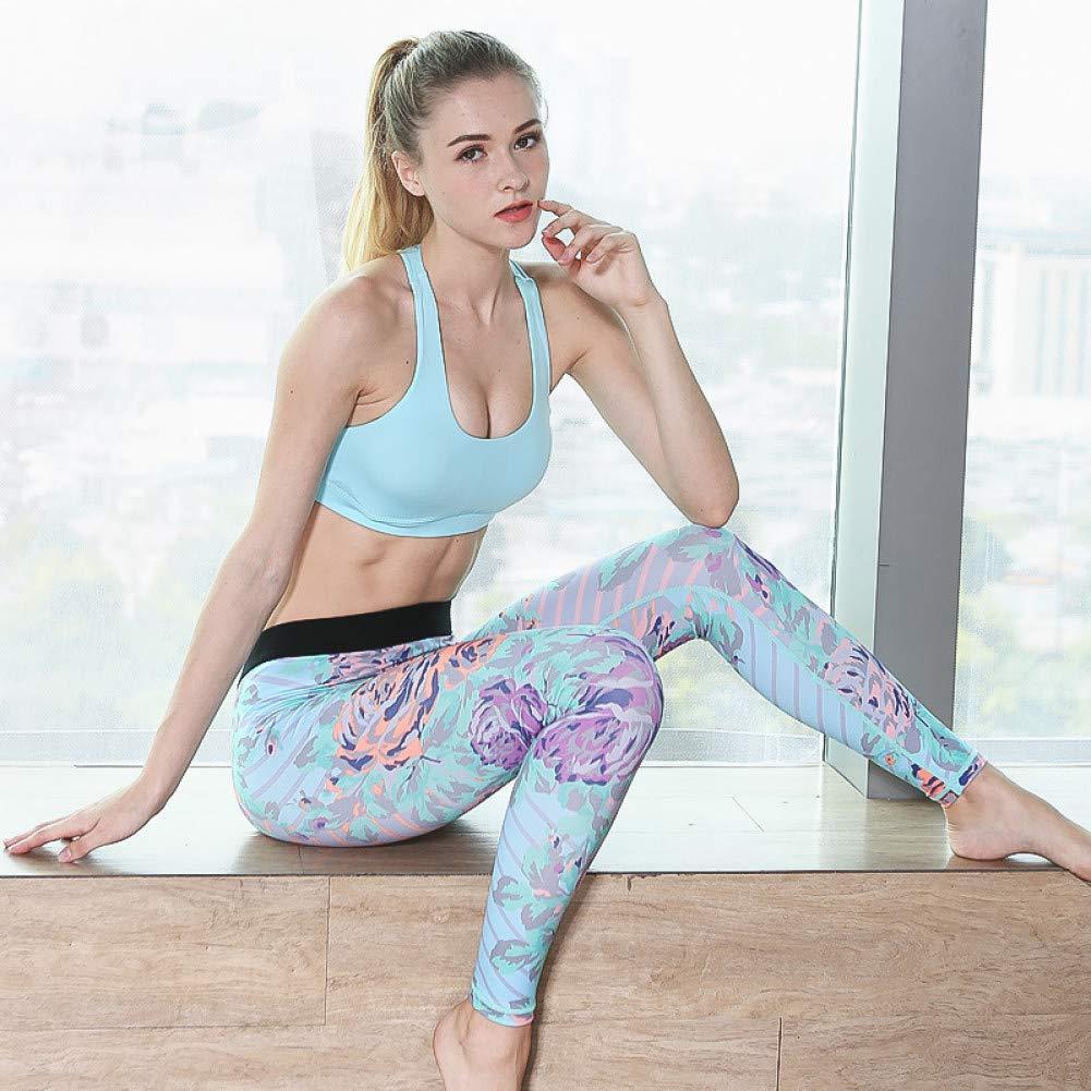 YUYOGAP Frauen-Gamaschen-Sport-Eignungs-Yoga-Hosen-Hosen-Übungs-knöchellange Hosen, die Kompressionssportkleidung-Turnhallenkleidung Laufen Lassen