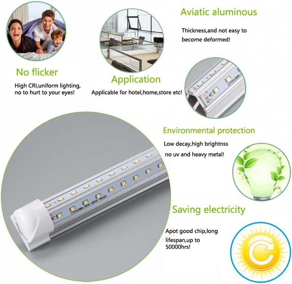 SMD2835 Clear Cover,Cool White 6000K Dual-Sided LED Cooler Door Lights 25 Pack/… AC85-277V 5ft V-Shape Integrated LED Tube Lights 48W LED Linkable Shop Lights,48000LM