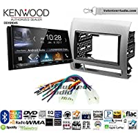 Volunteer Audio Kenwood DDX9904S Double Din Radio Install Kit with Apple CarPlay Android Auto Bluetooth Fits 2005-2011 Non Amplified Toyota Tacoma (Silver Textured)
