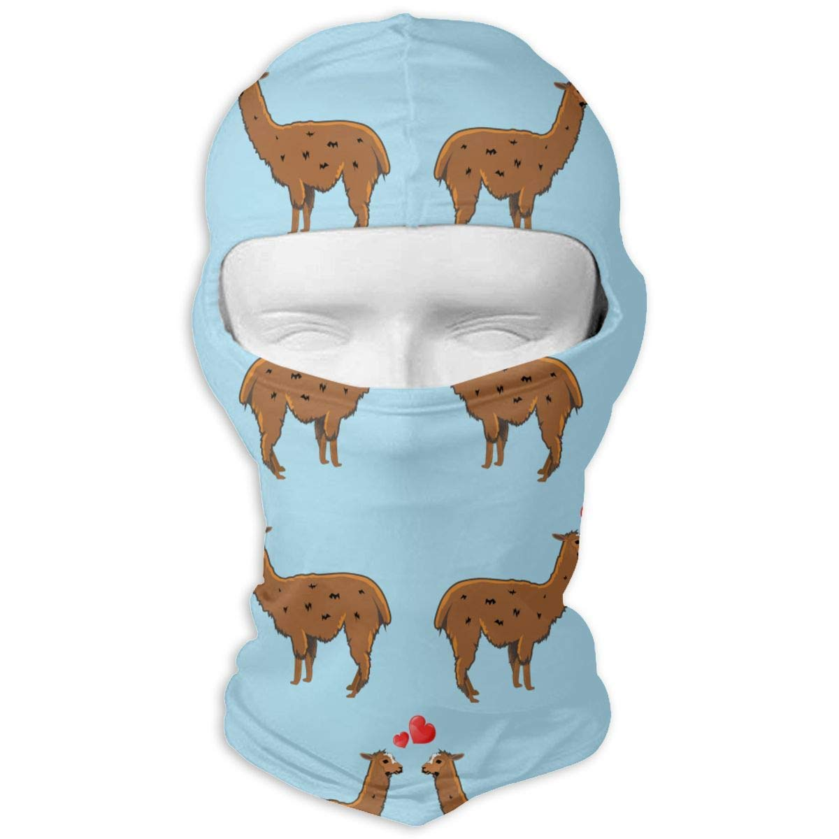 Vidmkeo Llama Lover Balaclava Face Mask Hood for Neck Gaiter Headwear Helmet Liner