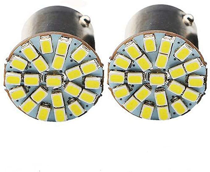 LED Light 5W BA15D Blue 10000K Two Bulbs Turn Signal DRL Daytime Replace