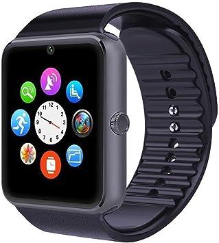 Smartwatch Android iOS Smart Watch Phone Cuello para hombre y mujer con SIM card Slot Reloj Fitness Tracker Watch pulsera Sport podómetro Cámara para iPhone Huawei Samsung Xiaomi Smartphone: Amazon.es: Electrónica
