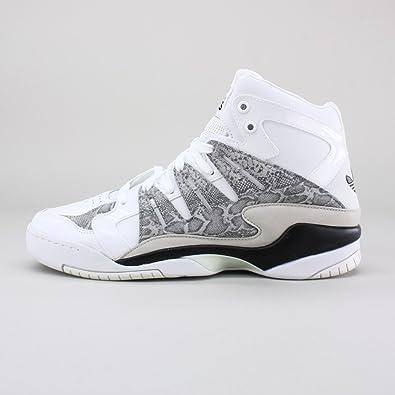 adidas Torsion Attitude Snakeskin White Black Men s Basketball Shoes Size  9.5 ff09313e3