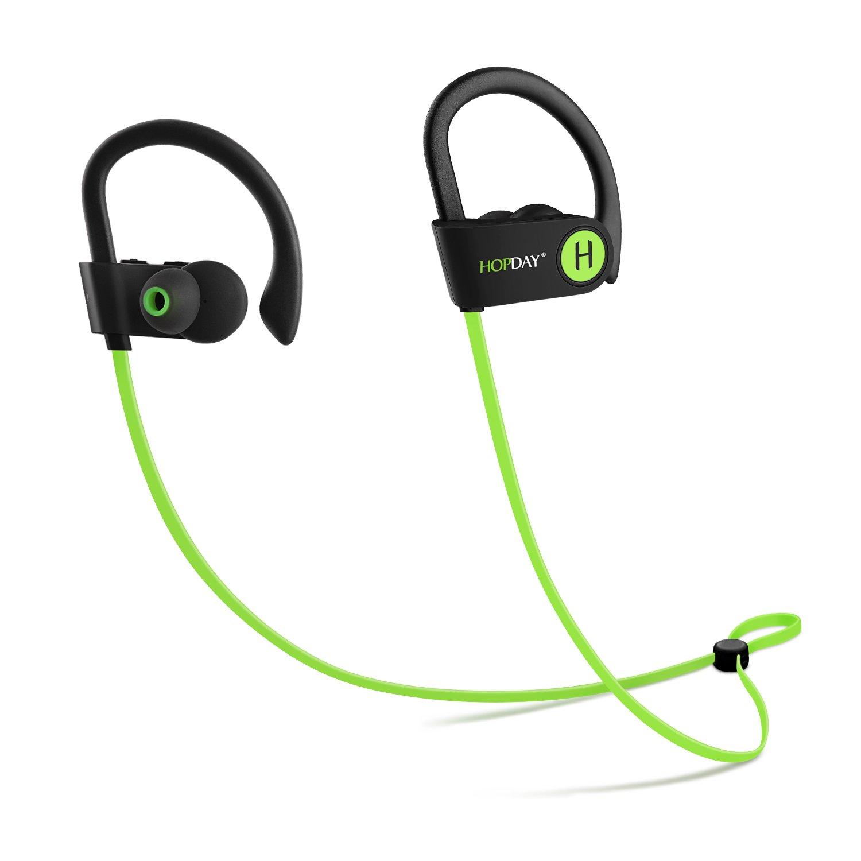 Bluetooth Headphones, Wireless Headphones, HOPDAY In-Ear Bluetooth Earbuds, Built-in Mic, Stereo Sound, Noise Cancelling IP68 Waterproof Sweatproof Wireless Earbuds,light green